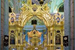 Kungliga personer utfärda utegångsförbud för i Peter och Paul Cathedral fästning paul peter Fotografering för Bildbyråer