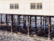 Kungliga Pier Detail, Aberystwyth Royaltyfri Foto