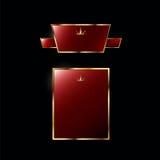 Kungliga röda etiketter Royaltyfri Bild