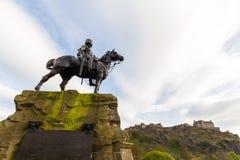 Kungliga Scots Greys som är minnes- i Edinburg, Skottland Royaltyfri Bild