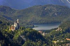 Kungliga slott av Neuschwanstein Royaltyfri Bild