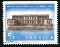 Kungliga slottar i Sverige royaltyfri foto