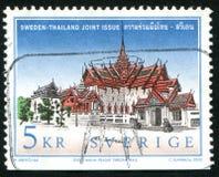 Kungliga slottar i Thailand arkivbild