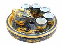 kungliga teaware för porslin Arkivbilder