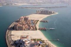 Kungligt Amway hotell på gömma i handflatan Jumeirah Arkivfoto