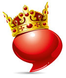 kungligt anförande Arkivbild
