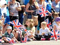 Kungligt besök, Derbyshire, UK Arkivfoto