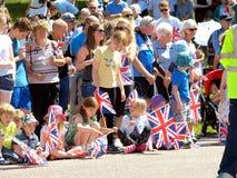 Kungligt besök, Derbyshire, UK Royaltyfria Bilder