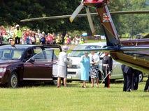 Kungligt besök, Derbyshire, UK Royaltyfri Bild