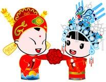 kungligt bröllop stock illustrationer