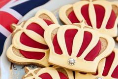 kungligt bröllop för kakor Royaltyfria Foton