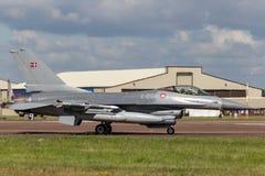Kungligt för Kongelige Danske Flyvevabnet General Dynamics F-16AM för danskt flygvapen flygplan för kämpe för falk stridighet E-0 Arkivbilder