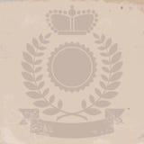 Kungligt heraldiskt emblem stock illustrationer