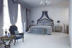 Kungligt hotellrum i klassisk stil Royaltyfri Fotografi