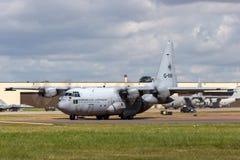 Kungligt nederländskt flygplan G-988 för flygvapenKoninklijke Luchtmacht Lockheed C-130H Hercules militärt transport från skvadro Royaltyfria Bilder