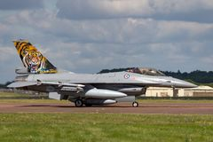 Kungligt norskt flygplan för kämpe för falk för flygvapenLuftforsvaret General Dynamics F-16AM stridighet Royaltyfri Bild