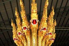 Kungligt rusa in det nationella museet av kungliga pråm, Bangkok, Thailand royaltyfri fotografi