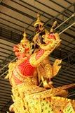 Kungligt rusa in det nationella museet av kungliga pråm, Bangkok, Thailand royaltyfria bilder