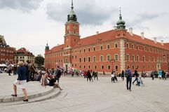 Kungligt slott, Warsaw Royaltyfri Fotografi