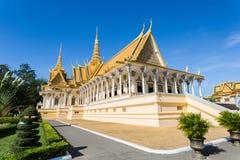 Kungligt ställe i Phnom Penh Fotografering för Bildbyråer