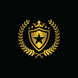 Kungligt stjärnasportsymbol Arkivfoton