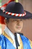 Kungligt Vakt-ändra för Deoksugung slott Royaltyfria Foton