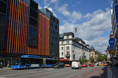 Kungsgatan one of the main streets downtown in Stockholm in Swed Royalty Free Stock Photography