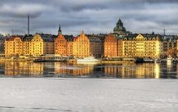 Kungsholmen Estocolmo en invierno. Foto de archivo