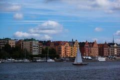 Kungsholmen i Riddarfjarden w Sztokholm Obrazy Royalty Free