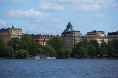 Kungsholmen i Riddarfjarden w Sztokholm Fotografia Stock