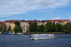 Kungsholmen i Riddarfjarden w Sztokholm Obrazy Stock