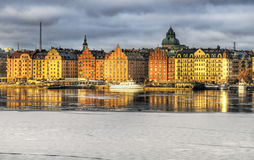 Kungsholmen Stockholm in winter. Stock Photo