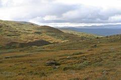 Kungsleden供徒步旅行的小道 免版税库存图片