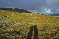 Kungsleden hiking trail Stock Photography