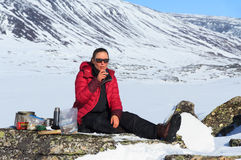 Kungsleden lunch break Royalty Free Stock Image