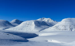 Kungsleden mountains Royalty Free Stock Photos