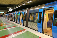 Kungstradgarden station of the Stockholm metro Stock Photography