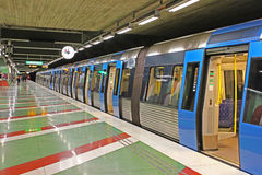Kungstradgarden station of the Stockholm metro Royalty Free Stock Photo