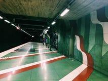 Kungstradgarden-tunnelbanestation Untertage Blaue Linie, Hauptbahnhof der U-Bahn Stockholm, Schweden Stockfoto