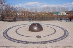 Kungur, Ρωσία - 16 Απριλίου 2016: Τετράγωνο στην ακτή του ποταμού Στοκ φωτογραφία με δικαίωμα ελεύθερης χρήσης