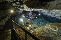 Kungur-Eishöhle, Kungur, Russland, Ural Stockbilder