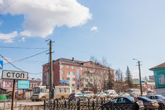 Kungur, Russia - April 16.2016: the City landscape with a buildi Stock Photography