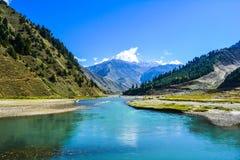 Kunhar-Fluss in Naran Kaghan Valley stockfoto