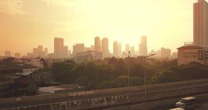 Kuningan CBD美好的空中风景  股票录像