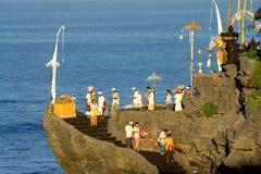 Kuningan festival, Bali Indonesien arkivbild