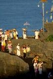 Kuningan festival, Bali Indonesien arkivbilder