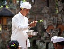 Kuningan festival i Bali Arkivfoton