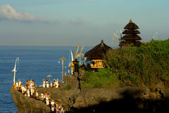Kuninganfestival, Bali Indonesië stock afbeeldingen