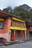 Kunjung, Nepal, Oktober, 17, 2013 Monasterio antiguo en el pueblo de Khumjung, en el cual almacenó un cuero cabelludo del yeti foto de archivo libre de regalías