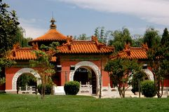 Kunming, China: Beijing Garden Gate at Horti-Expo Park Stock Photography